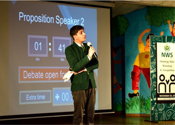 Nehru World School Ghaziabad Debate