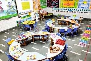 Nehru World School Ghaziabad KG Classroom
