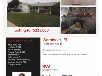 Another New Listing in Seminole