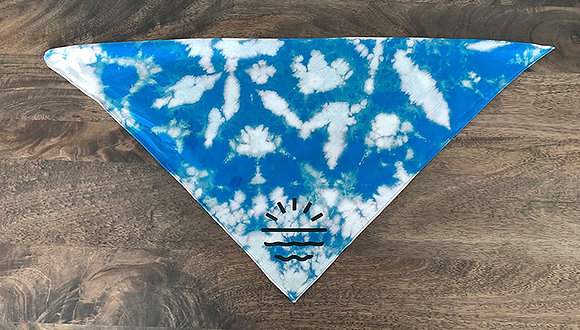 Sun Lab Logo Dog Bandana - Royal/White