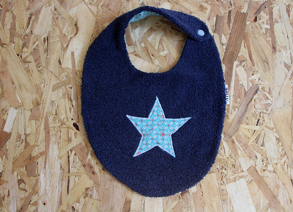 Bavoir étoile bleu