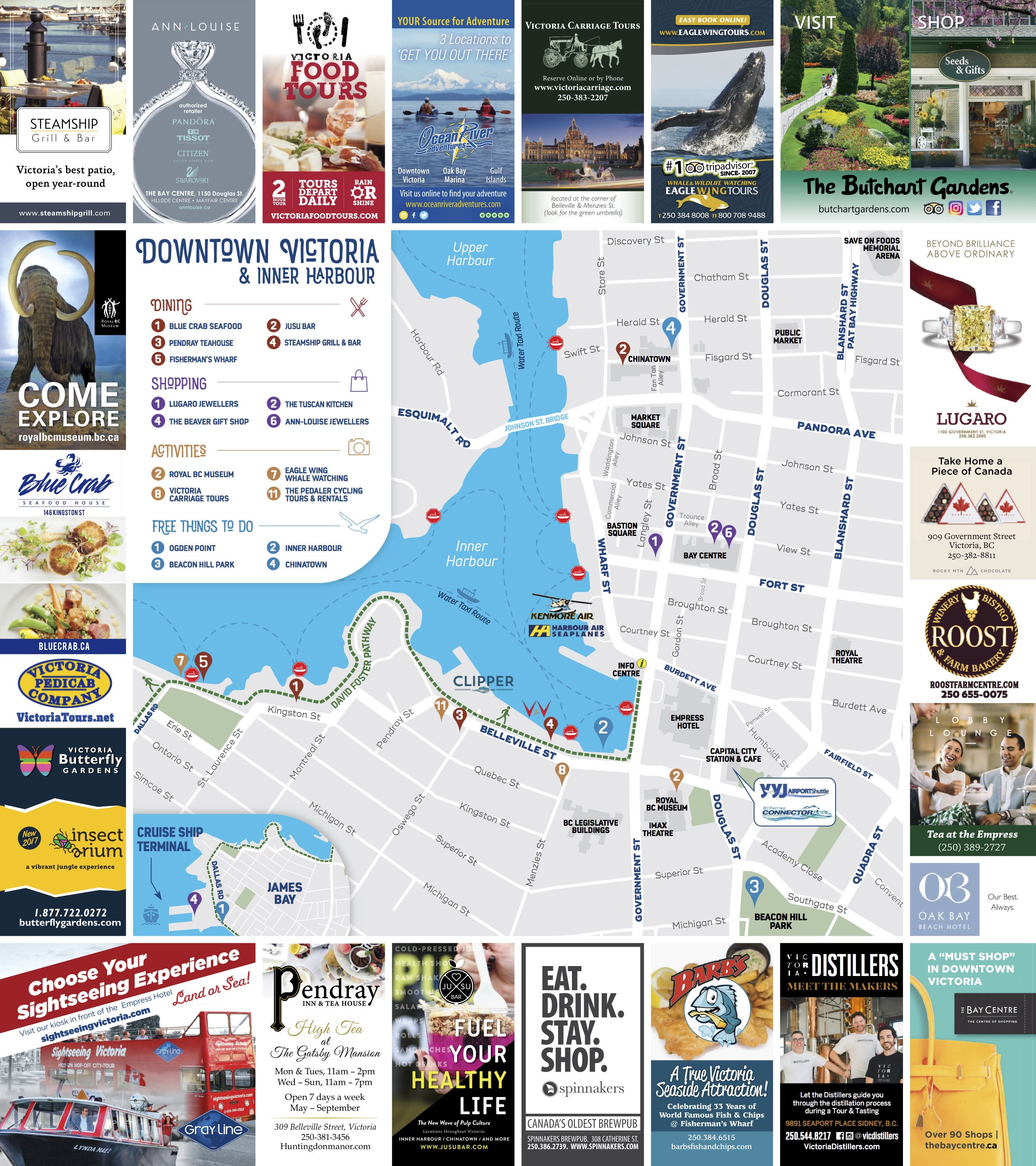 Experience Victoria Web Inner Harbour Map