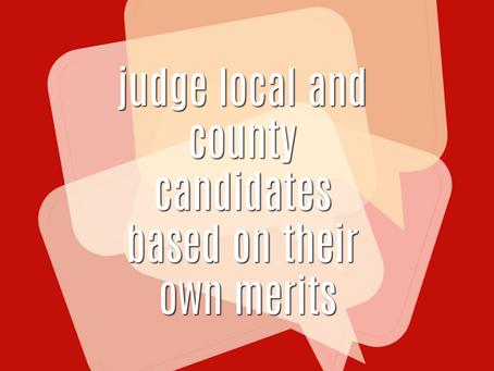 Local Politics is NOT National Politics