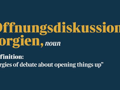 Öffnungsdiskussionsorgien.