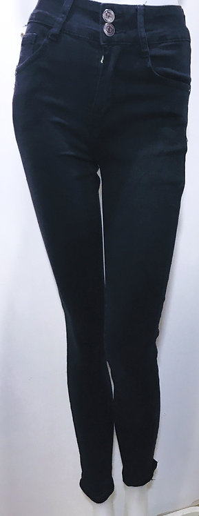 Black high wasted push up jeans
