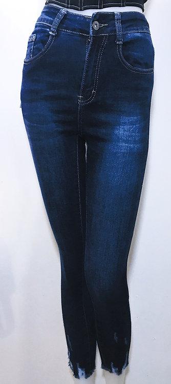 Skinny fit ankle detail blue jean