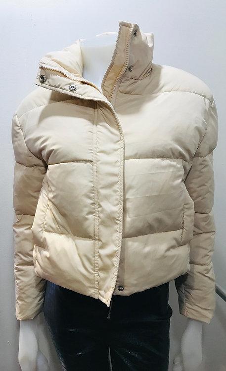Cream puffa coat