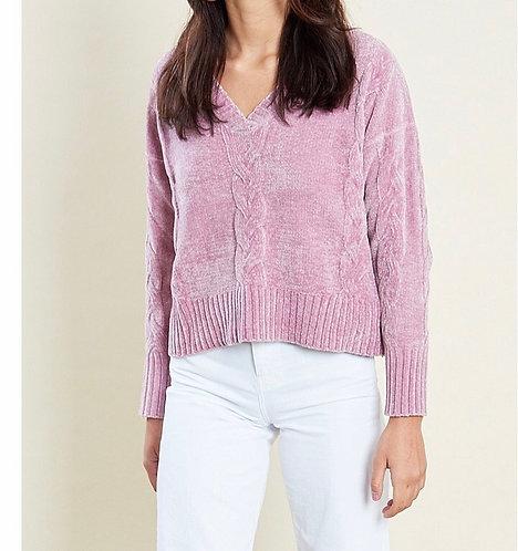 Pink V neck jumper