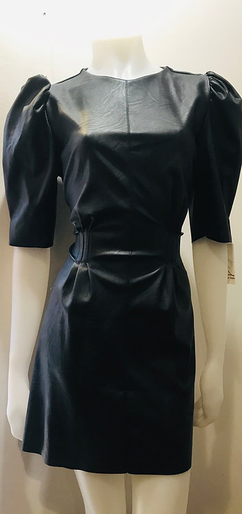 Black PU dress