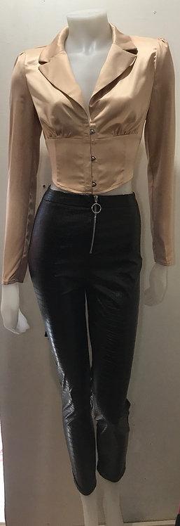 Gold corset top
