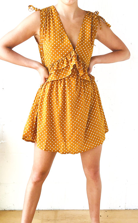 Mustard Potty Smock Dress