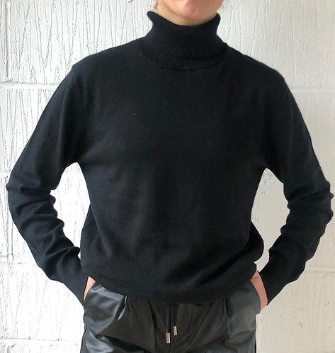 Black Roll Neck Knit