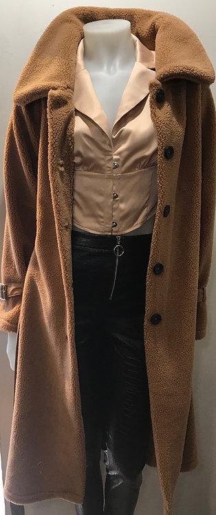 Teddy bear fleece coat
