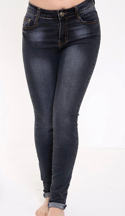 Black washed out skinny jean