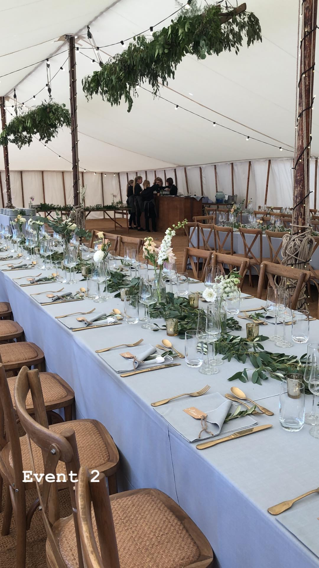 Marquee Wedding Trestle Table