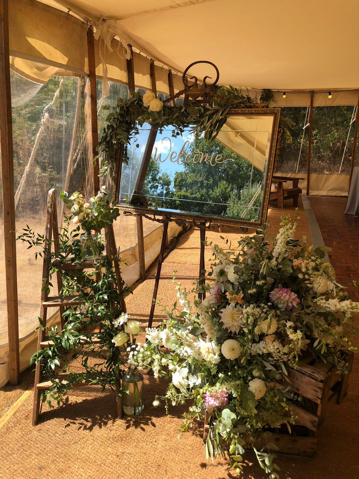 Flower entrance wedding