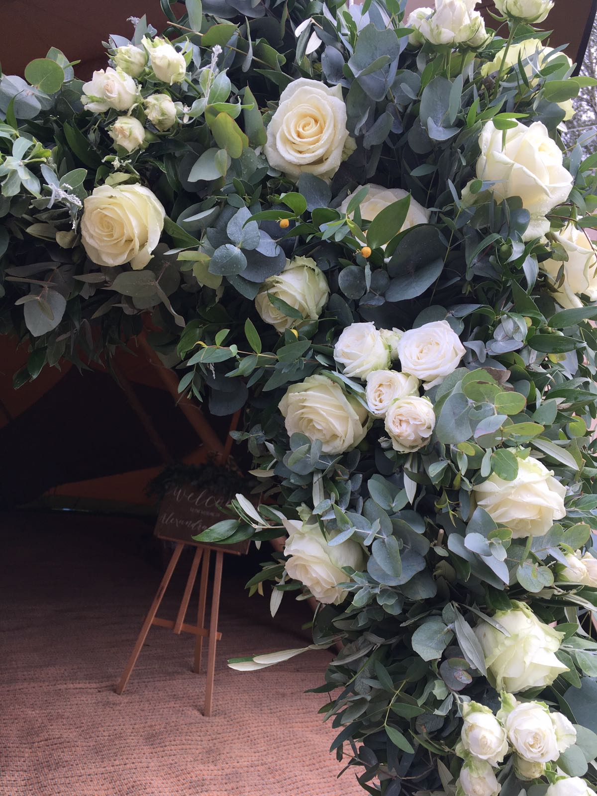 flower arch, tipi wedding