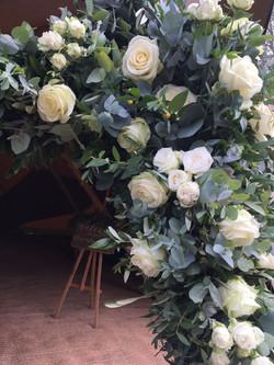 flower arch, tipi wedding