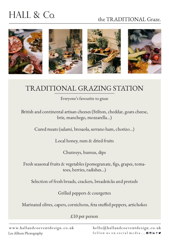 Traditional Grazing Sample Menu