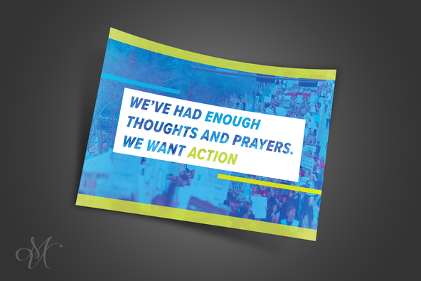 March For Our Lives Campaign Brochure & Protest Sign