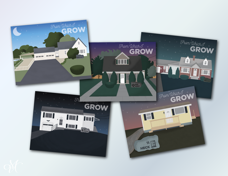 From Which I Grow: A Postcard Series