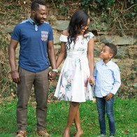 Kaylia and Fred engagement family