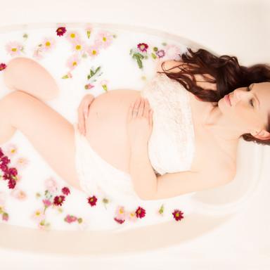 Jennifer milk bath Maternity
