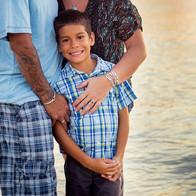 Isaiah, erin, tony beach family