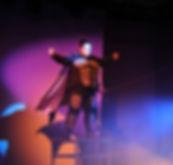 molly on podium
