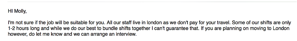 all our staff live in London