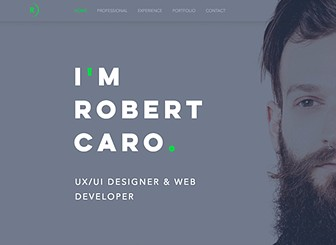 UXUI Designer Resume Website Template WIX