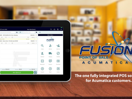 Evlocity's Fusion RMS mobile software released for Accumatica POS