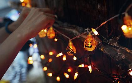 ハロウィーンの文字列ライト
