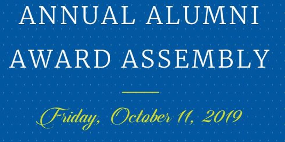 Alumni Award Assembly - Friday, October 11th