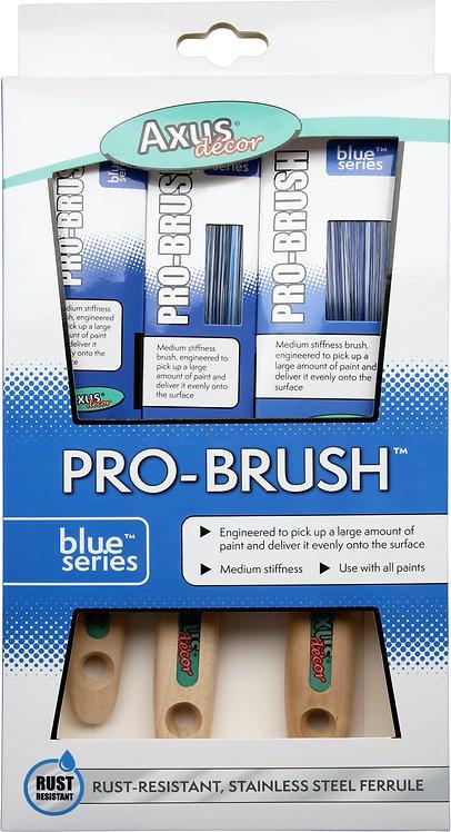 Axus Blue Series Pro-Brush 3pk