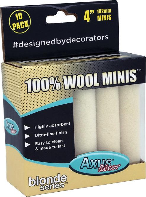 Axus 100% Wool Rollers 4in 10pk
