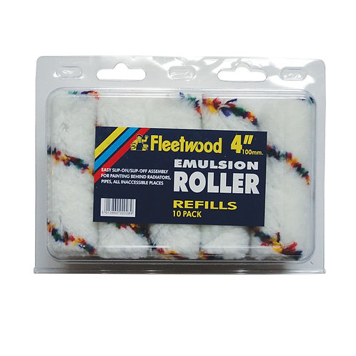 Fleetwood Emulsion Roller 4in 10pk