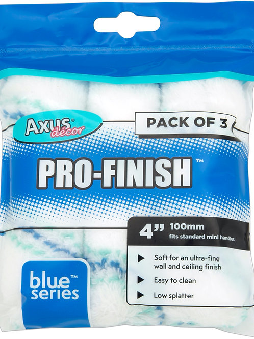 Axus Pro-Finish Rollers 4in 3pk