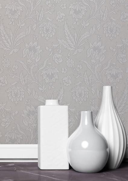 Milano Silver Grey Floral
