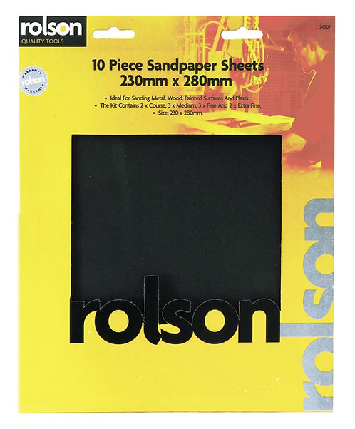 Rolsen Wet & Dry Sandpaper pack