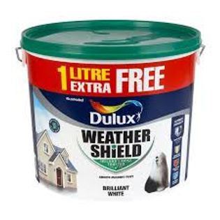 Dulux Weathershield Brillant White 10L