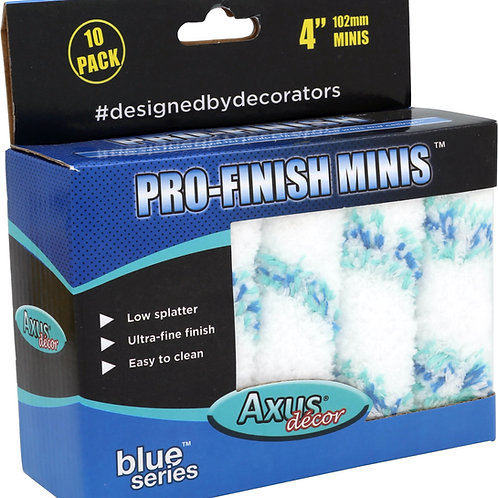 Axus Pro-Finish Rollers 4in pk of 10