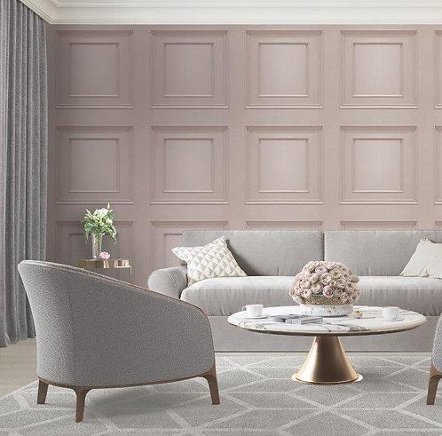 Wood Panel 3d Effect Soft Pink