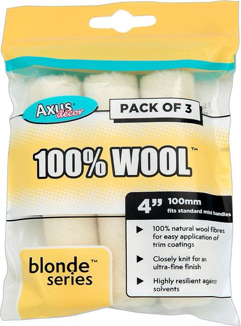 Axus 100% Wool Rollers 4in 3pk