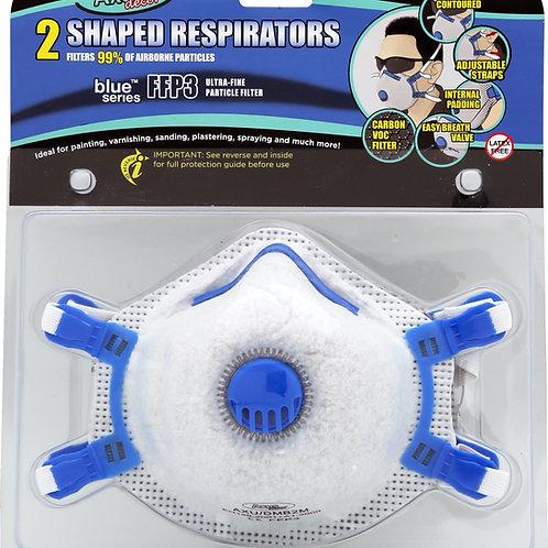 Axus Blue series 2 Shaped Respirators