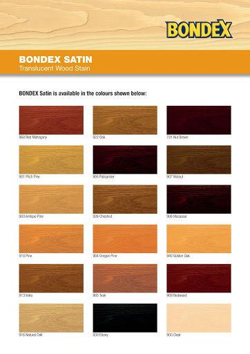 Bondex Satin Chart
