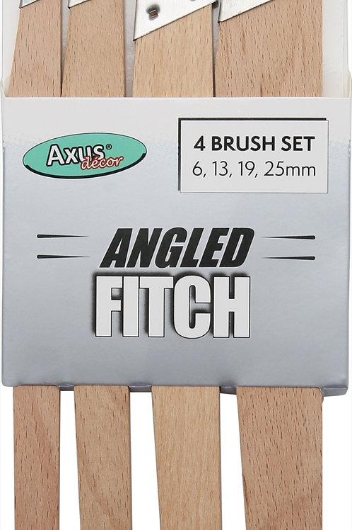 Axus Angled Fitch 4xBrush Set