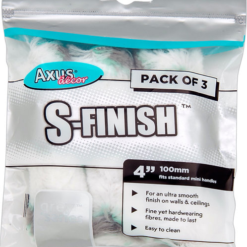 Axus S-Finish Rollers 4in 3pk