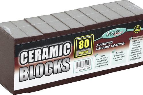 Axus Ceramic Sanding Blocks Medium 80grade