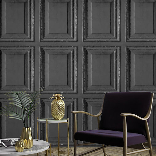 Wood Panel Dark Grey